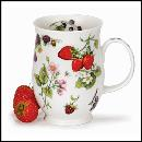 Designertassen - Dunoon - Fine Bone China  : Tasse, Suffolk Fruits and Blossoms Strawberry